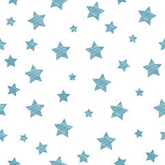 Seamless texture with stars - background for Christmas. Vector.