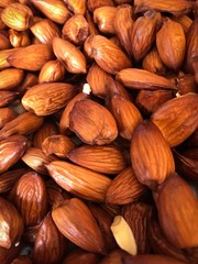 Almonds close up