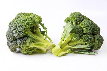 juicy tasty broccoli on white background
