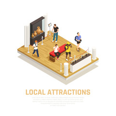 Local Attractions People Travel Composition
