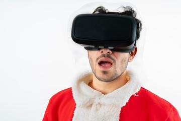 santa claus with virtual glasses