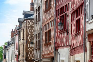 Fachwerkhäuser in Orleans, Frankreich