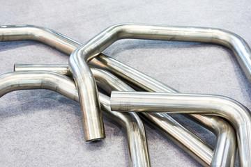 Fototapeta Bent steel pipes obraz