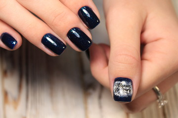 Women's hands with a stylish manicure. Best