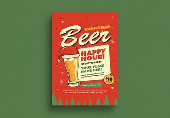 Holiday Happy Hour Flyer Layout