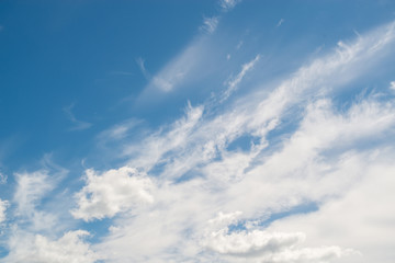 background of clouds against the blue sky