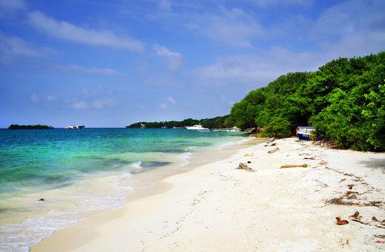 Carribean landscape on Isla Grande, Rosario Archipelago, Colombia, South America