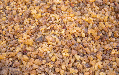 Fotobehang Kruiderij driend frankincense (boswellia serrata)