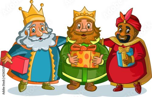 Dibujos De Navidad Del Olentzero.Navidad Reyes Magos Dibujo Stock Image And Royalty Free