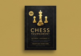 Chess Tournament Event Flyer Layout