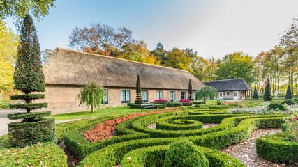 Traditional Dutch farmhouse scene
