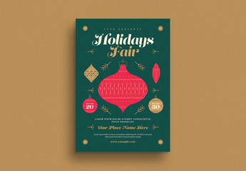 Holiday Fair Event Flyer Layout