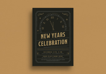 New Year's Eve Celebration Event Flyer Layout