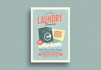 Laundry Service Flyer Layout