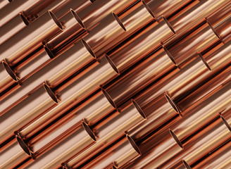 Copper pipes, copper rolled metal products.