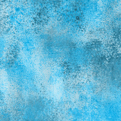 Acrylic watercolor winter texture with abstract washes and brush strokes on the white paper background.