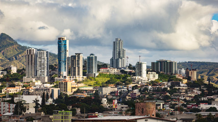 buildings in tegucigalpa honduras Fototapete