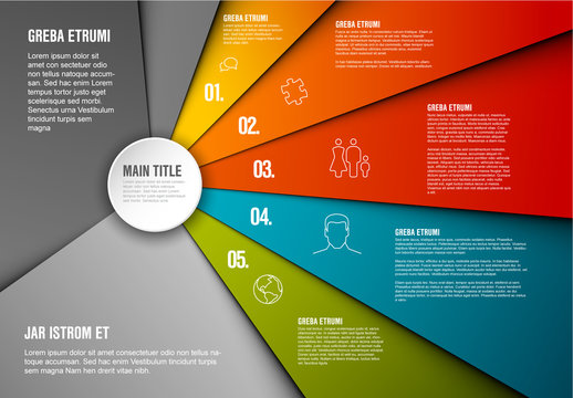 Five Point Infographic Layout