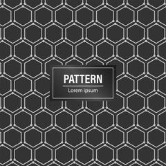 Minimal geometric pattern background. Black pattern background