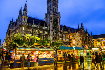 christmas market in munich - germany