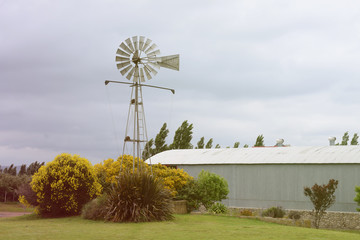 antique windmill on the farm in working condition