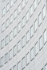 Fassade eines Hochhauses in der Innenstadt von Leipzig