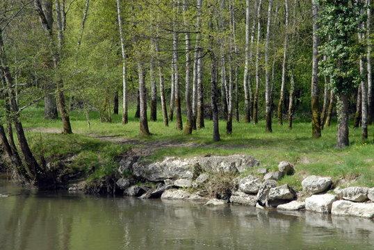 Ville de Salbris, Sologne, les bords de la Sauldre, département du Loir et Cher, France