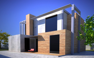 Modern building with different finish