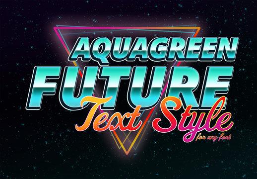 Aqua-Green Future Text Style