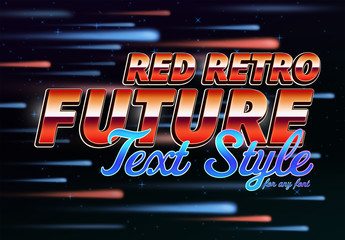 Red Future Text Style