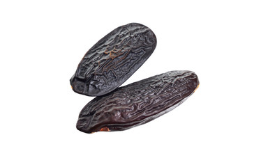 Bean of Dipteryx odorata, cumaru or kumaru. Its seeds are known as tonka beans, sometimes tonkin beans or tonquin beans