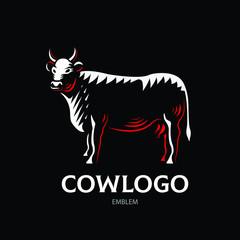 Cow logotype - vector farm illustration