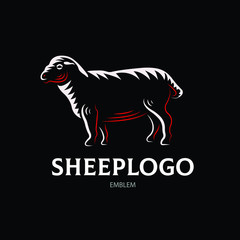 Sheep logotype - vector farm illustration