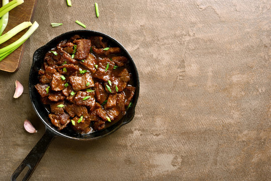Stewed beef in soy sauce with spices