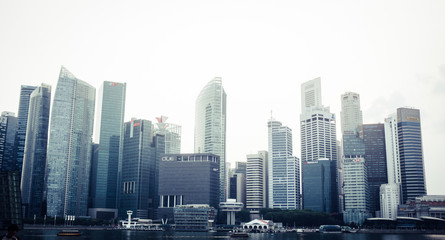 Singapore skyline from Marina Bay