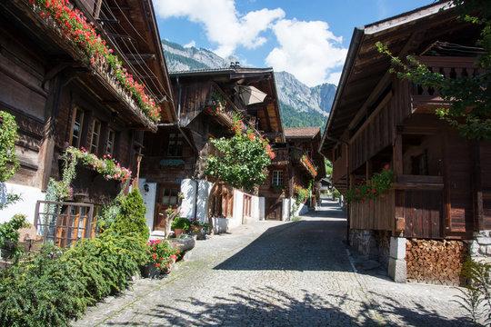 alter Dorfteil in Brienz, Berner Oberland / Schweiz