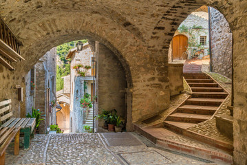 Scheggino, idyllic village in the Province of Perugia, in the Umbria region of Italy.