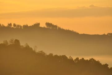 Sudety środkowe - wschód słońca