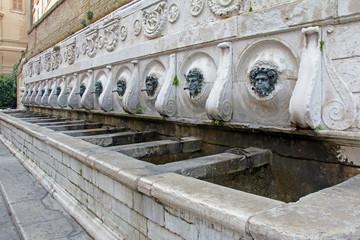 Ancona; la Fontana del Calamo