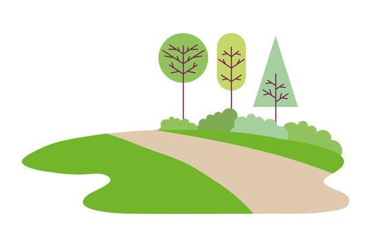 park trees nature road landscape