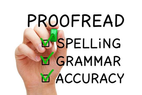 Positive Proofread Checklist Concept