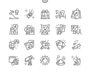 Newton's Day Well-crafted Pixel Perfect Vector Thin Line Icons 30 2x Grid for Web Graphics and Apps. Simple Minimal Pictogram