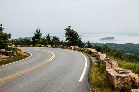 Down hill from Cadillac Mountain in Acadia