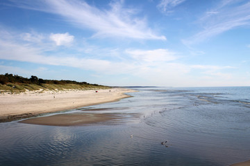 Scenic coastline view of Curonian Spit near Klaipeda, Lithuania