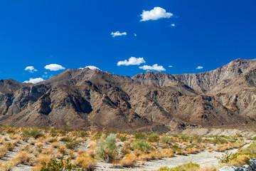 Desert mountains in the Coachella Valley in California