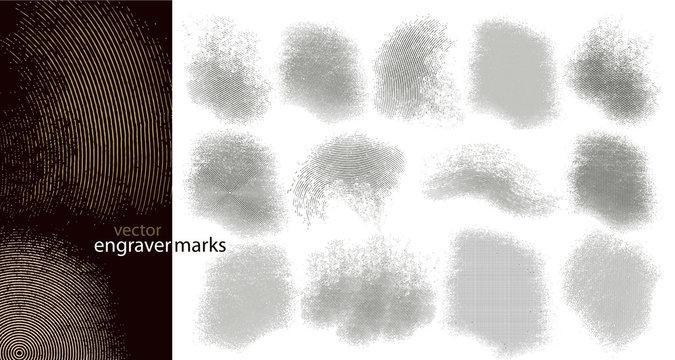 Engraver marks (vector)