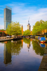 Castlefield - an inner city conservation area in Manchester, UK
