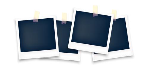 Set of Polaroid blank photo frame with sticker