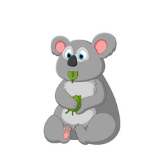 vector illustration of a cartoon koala