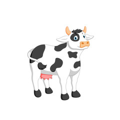 vector illustration of cow cartoon
